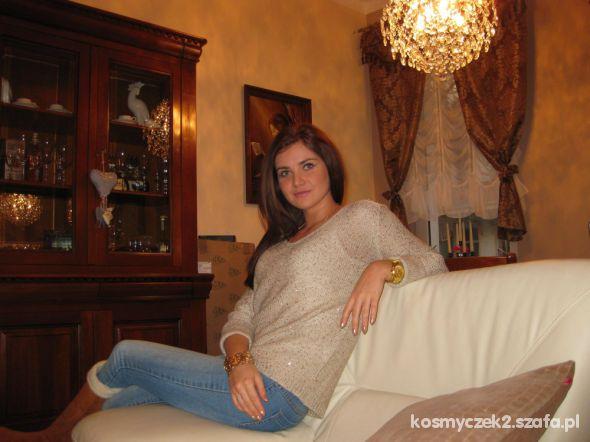 Mój styl złoty sweterek