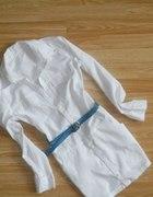 Biała koszula dłuższa 36