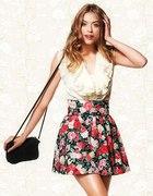 spódnica h&m floral kwiaty s...