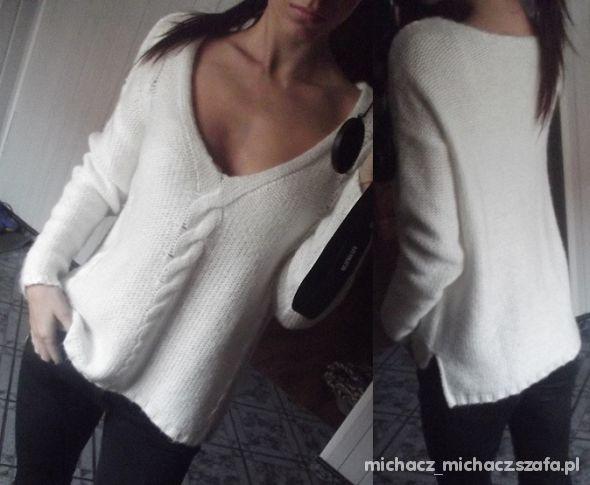 kremowy sweterek HM