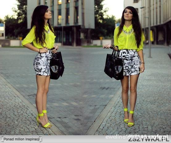Limonkowa koszula mgiełka