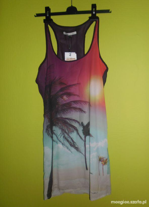 letnia sukienka bershka palmy