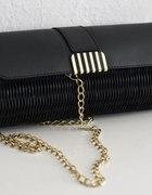 czarna torebka chanelka atmosphere złoty łańcuszek...