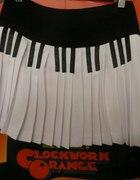 pianino fortepian spódniczka plisowana Fuka...