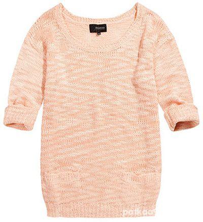Łososiowy sweterek...