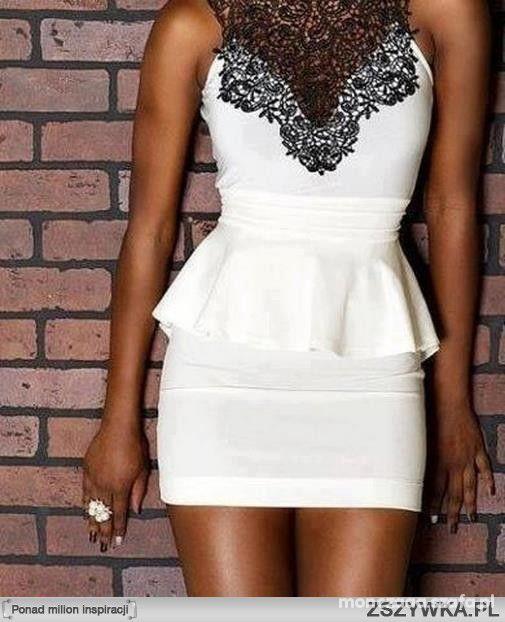 Biała sukienka i opalenizna