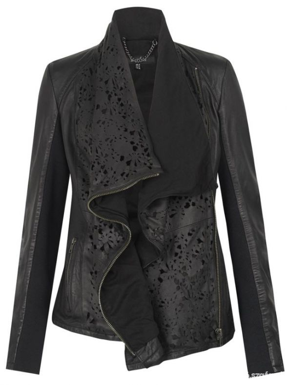 turan laser cut leather jacket