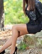 Sukienka oraz skórzana kurteczka