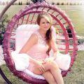 Sukienka koronka róż