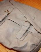 duża torba szara khaki jak h&m