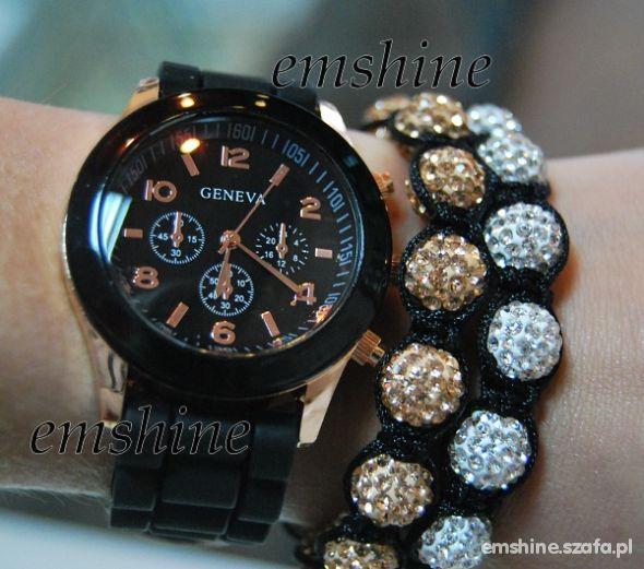 Zegarek jelly watch czarny GENEVA