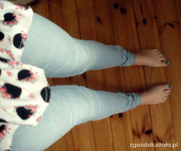 Legginsy dżinsowe legginsy rozmiar 38 H&M nieużywane