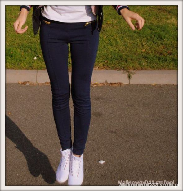 Czarne legginsy z zipami