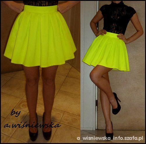 Spódniczka neonowa żółta