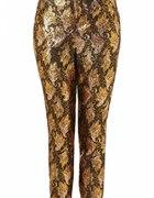spodnie Topshop w kolorze złotym