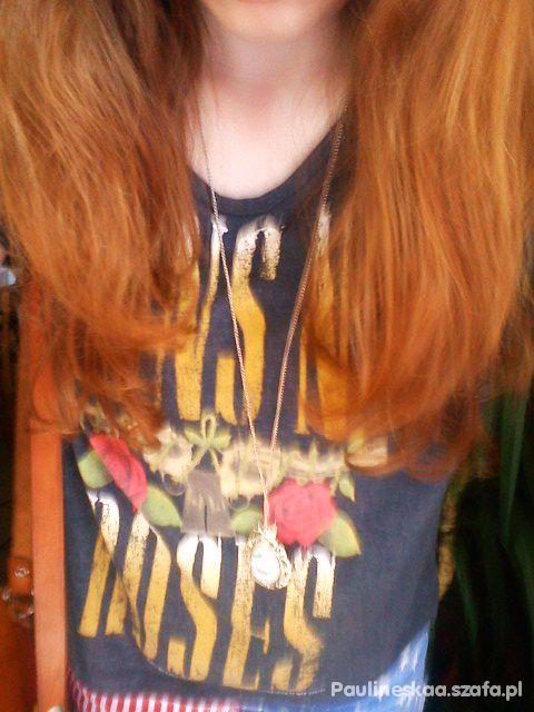 szorty flaga usa guns n roses i rude włosy...