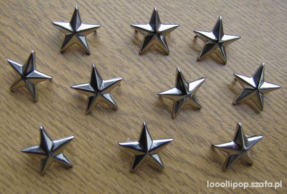 Pozostałe Ćwieki gwiazdki gwiazdy srebrne