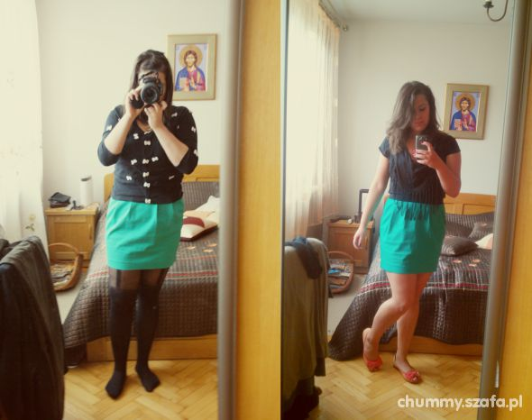 Romantyczne Green skirt from RE