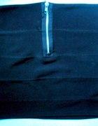 spódniczka bandażowa zip czarna 36 S tanio mini