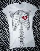 Koszulka Iron Fist wishbone żebra kości kostki emo