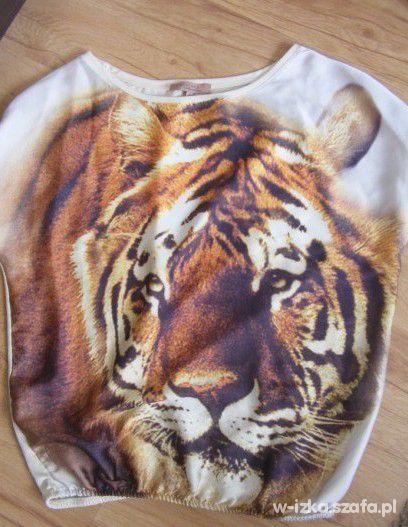 oversize tygrys BERSHKA
