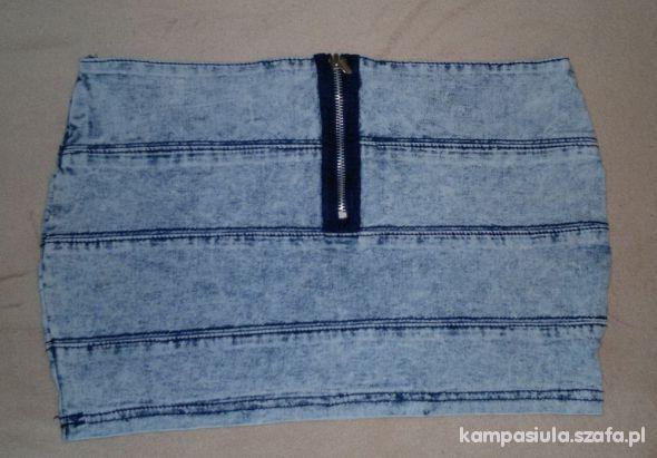 Marmurkowa mini jeansowa zip