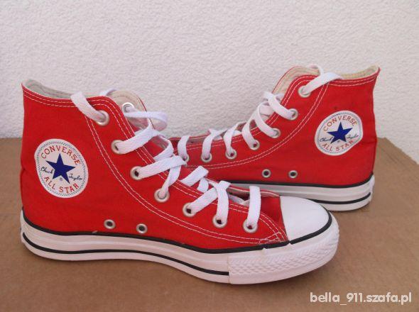 Converse All Star Czerwone Długie Za Kostkę 37