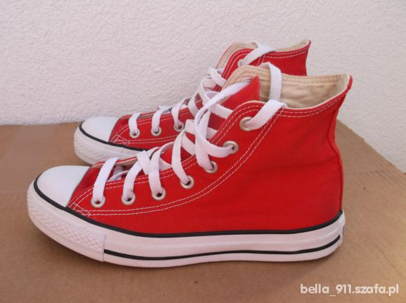 Converse All Star Czerwone Długie Za Kostkę 37 w Trampki