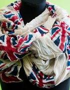nowy szalik chusta USA ANGLIA XXXL szal
