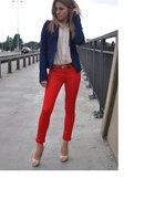 czerwone rurki skinny S