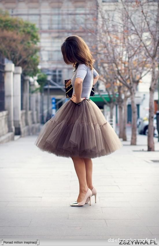 Ubrania Tiulowa spódnica