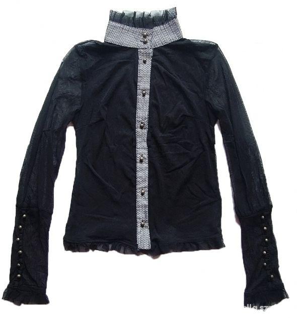Gotycka bluzka koszula siatka steampunk victorian