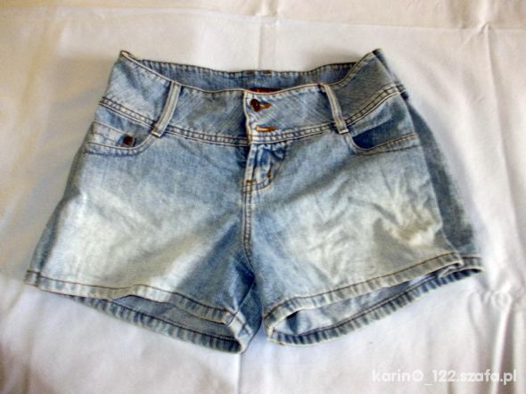 jeansowe wycierane spodenki 42