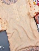 piekna zwiewna włoska bluzka koronka...