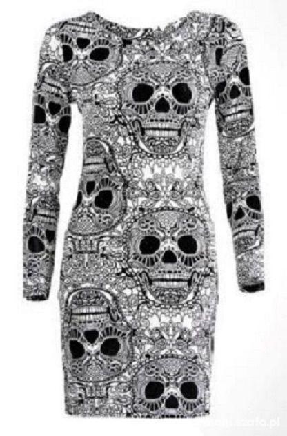 sukienka aztec czaszki maxi tuba