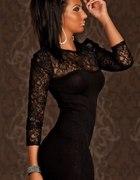 Sukienka czarna koronka mini
