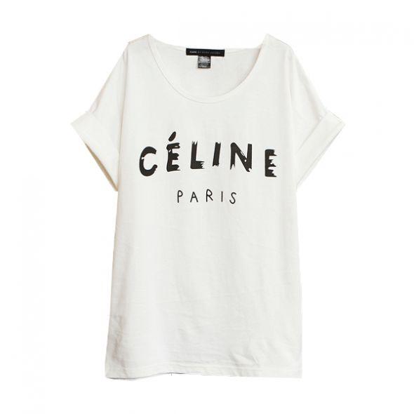 Koszulka tshirt z napisem CELINE i nne