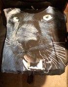 Czarna pantera oversize h&m wild animal...