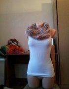 Włochaty milusi komplecik na zime czapka plus szal
