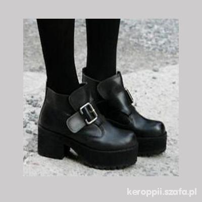 Botki Black punk gothic boots