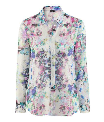 Piękna koszula w kwiaty hm r 44 NOWA