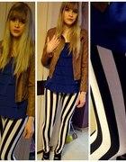 in striped