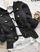 4 KOLORY sweterek militarny