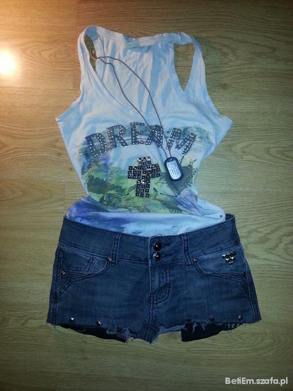 Mój styl Koszulka i spodenki z ćwiekami