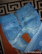 Jeansy z zipem z tyłu 38...