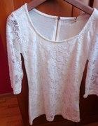 Biała koronkowa bluzeczka xs s