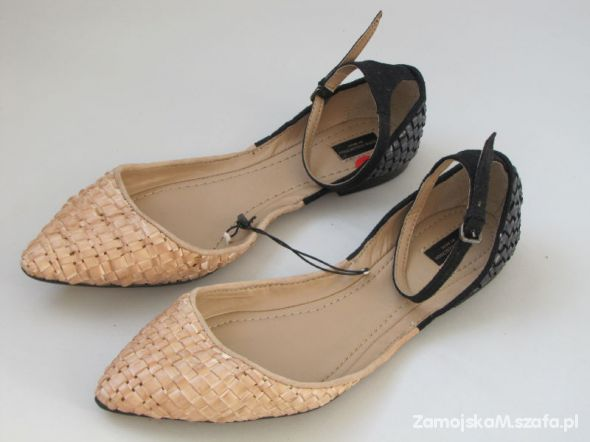 Zara szpic balerinki