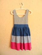 sukienka tricolor jak topshop bombka
