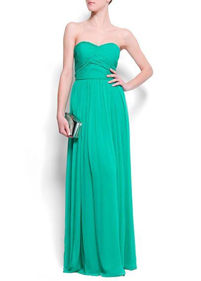 Zielona sukienka Mango