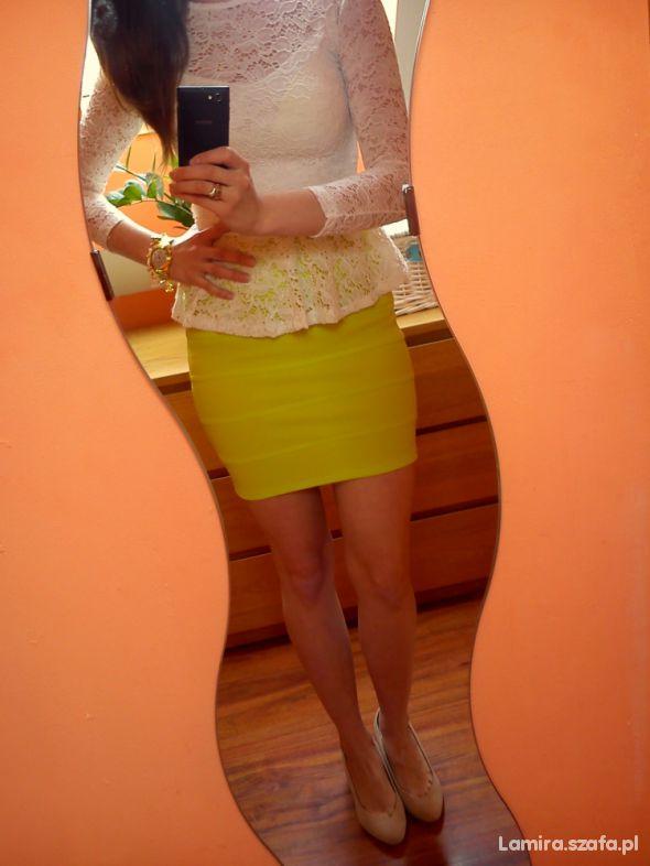 Mój styl neonowa spódniczka